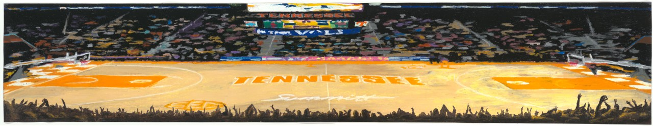 Thompson-Boling Arena (oil pastel on canvas)